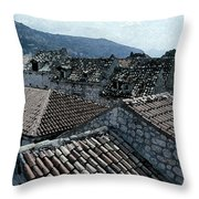 Roofs Of Dubrovnik Throw Pillow