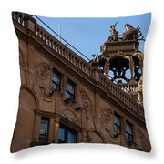 Rooftop Chariots And Horses - The Hippodrome Casino Leicester Square London U K Throw Pillow
