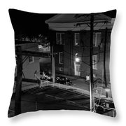 Rooftop Court Throw Pillow