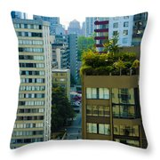 Rooftop Garden Throw Pillow