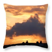 Rooftop Sunset 2 Throw Pillow