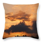 Rooftop Sunset 3 Throw Pillow