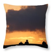 Rooftop Sunset Throw Pillow