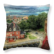 Rooftop View_pano Throw Pillow