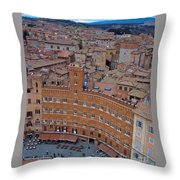 Rooftops And Cafes Of Il Campo Throw Pillow