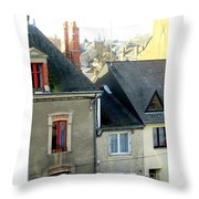 Rooftops, Chateaubriant Throw Pillow