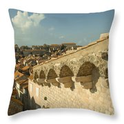 Rooftops Of Dubrovnik  Throw Pillow