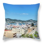 Rooftops Of Ibiza 4 Throw Pillow