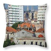 Rooftops Of Old Town Havana Throw Pillow