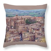 Rooftops Of Siena 2 Throw Pillow
