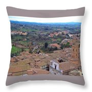 Rooftops Of Siena Throw Pillow