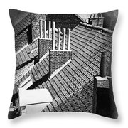 Rooftops Of Belgium Gothic Style Throw Pillow
