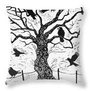 Rook Tree Throw Pillow