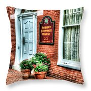 Room At The Inn Throw Pillow
