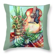 Room For Guitar Throw Pillow