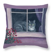 Room With A View Throw Pillow by Kathryn Riley Parker
