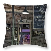 Rooms For Rent 25 Cents Signage Throw Pillow
