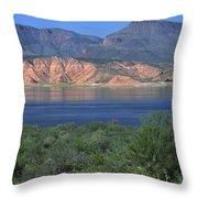 Roosevelt Lake - Panoramic Throw Pillow