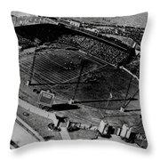 Vintage - Roosevelt Stadium Throw Pillow