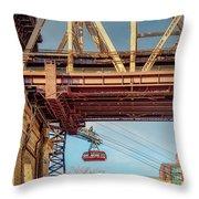 Roosevelt Tram Underneath The 59 St Bridge Throw Pillow