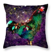 Rooster - Cockrell - Chicken Throw Pillow
