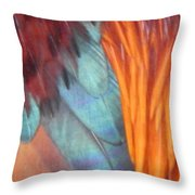 Rooster Art Palette Throw Pillow