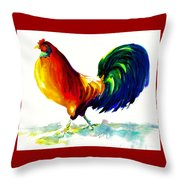 Rooster - Big Napoleon Throw Pillow