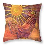 Rooster Batik Throw Pillow