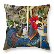 Rooster Coop Kids Ride Throw Pillow
