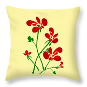 Rooster Flowers Throw Pillow