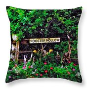 Rooster Hollow Throw Pillow