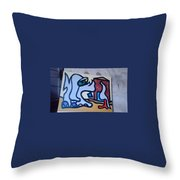 Rooster House Amazement No Head Throw Pillow