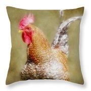 Rooster Jr. Throw Pillow