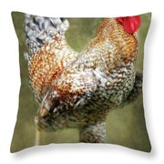 Rooster Jr. Strut Throw Pillow