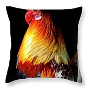 Rooster Portrait Throw Pillow