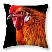 Rooster Pride Throw Pillow