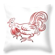 Rooster - Sign Of Chinese New Year Throw Pillow