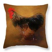 Rooster Strut Throw Pillow