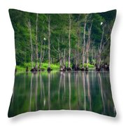 Roosting Egrets Throw Pillow
