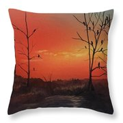 Roosting For The Night Throw Pillow