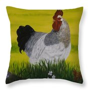 Roosty And Wild Flowers Throw Pillow