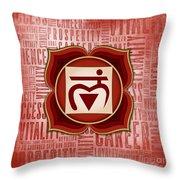 Root Chakra - Awareness Throw Pillow
