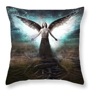 Rooted Angel Throw Pillow