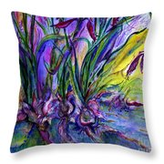 Roots In Blue Throw Pillow