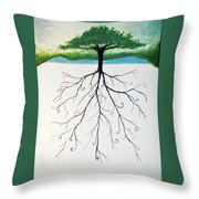 Roots Of A Tree Throw Pillow