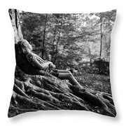 Roots Of Contemplation Throw Pillow