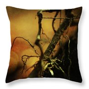 Roots Of Life Throw Pillow by Rebecca Sherman
