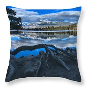 Roots On The Edge Of Beauvert Throw Pillow