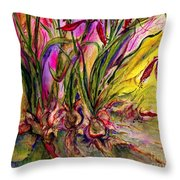 Roots In Pink Throw Pillow