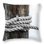 Rope Fence Fragment Throw Pillow